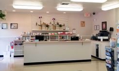 The reception area at Bonita Veterinary Hospital.